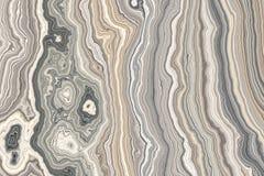 Абстрактный курчавый мрамор Стоковая Фотография