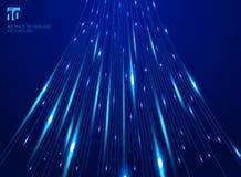 Абстрактный лазер движения скорости высоты выравнивает картину и нерезкость движения на темно-синей концепции технологии предпосы иллюстрация вектора