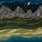 Абстрактный ландшафт горы в стиле мозаики смогите конструктор каждый вектор оригиналов предмета evgeniy графиков независимый kote бесплатная иллюстрация