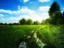 абстрактный ландшафт сельский Стоковая Фотография RF