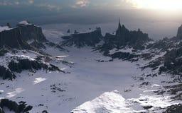 Абстрактный ландшафт Стоковая Фотография RF