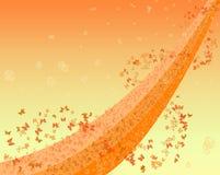 абстрактный летать бабочек Стоковая Фотография RF