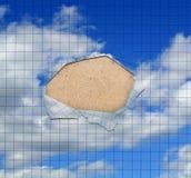 абстрактный лист бумаги отверстия Стоковое фото RF