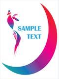 абстрактный логос иллюстрации птицы Стоковая Фотография