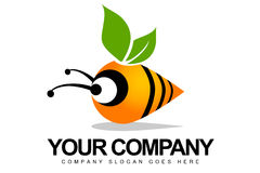 Абстрактный логос пчелы Стоковые Изображения