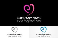 Абстрактный логотип влюбленности стоковое фото