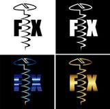 Абстрактный логотип дела винта починки надписи Стоковые Изображения