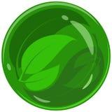 Абстрактный логотип от листьев зеленого цвета сочетания из Стоковые Изображения RF