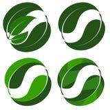 Абстрактный логотип от листьев зеленого цвета сочетания из Стоковое Фото