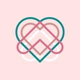 Абстрактный логотип сердца Стоковые Изображения RF
