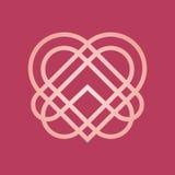Абстрактный логотип сердца Стоковая Фотография RF
