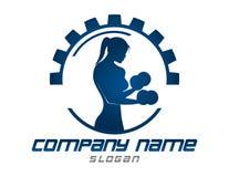 Абстрактный логотип gyml девушки на белой предпосылке Стоковое Фото