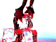 абстрактный льдед конструкции предпосылки стоковые изображения