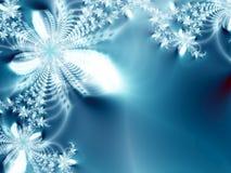 абстрактный льдед цветков Стоковое фото RF