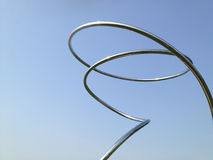 Абстрактный металл пускает по трубам на фоне 2 градиента голубом Стоковые Изображения