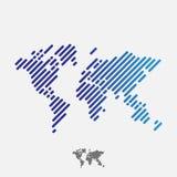 абстрактный мир карты Стоковые Изображения