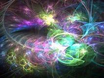 Абстрактный мир фрактали с бабочками Стоковое Фото