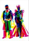 абстрактный модный парад Стоковая Фотография