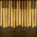 Абстрактный музыкальный рояль пользуется ключом - безшовная предпосылка - деревянное surfa иллюстрация штока