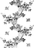 Абстрактный нарисованный вручную цветочный узор 01 Стоковые Фото