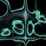 абстрактный настольный компьютер иллюстрация штока