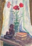 Абстрактный натюрморт на теме утра стоковое изображение