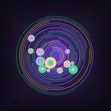 Абстрактный неоновый ретро круг иллюстрация вектора