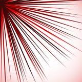 Абстрактный нервный график при радиальные линии распространяя от угла S Стоковое Изображение