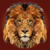 Абстрактный низкий поли дизайн льва Стоковое фото RF