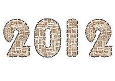 абстрактный новый год слова вектора Стоковая Фотография RF