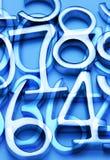 абстрактный номер предпосылки Стоковая Фотография RF