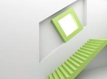 абстрактный нутряной stairway экрана Стоковые Изображения RF