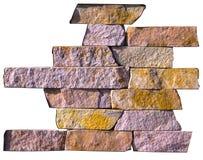 Абстрактный образец естественного камня на белой предпосылке Стоковое Изображение RF