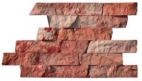 Абстрактный образец естественного камня на белой предпосылке Стоковая Фотография RF