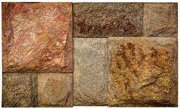 Абстрактный образец естественного камня на белой предпосылке Стоковые Фотографии RF
