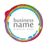 Круг логоса цветастый Стоковая Фотография
