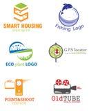 абстрактный логос элемента компании черноты предпосылки Стоковое Изображение