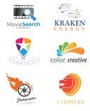 абстрактный логос элемента компании черноты предпосылки Стоковые Изображения RF