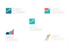 абстрактный логос элемента компании черноты предпосылки Стоковые Фотографии RF
