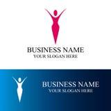 Абстрактный логотип женщины Стоковая Фотография