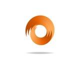 Абстрактный логотип знака огня, форма пламени Стоковые Фото