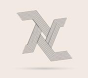 Абстрактный логотип сделанный с линиями Стоковые Фотографии RF