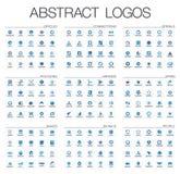 Абстрактный логотип установленный для деловой компании Элементы дизайна фирменного стиля Стоковое Изображение RF