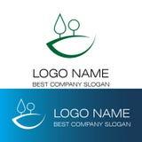 Абстрактный логотип холма сосен Стоковое Изображение