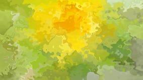 Абстрактный оживленный запятнанный весны петли предпосылки зеленый цвет безшовной видео- свежей желтый иллюстрация вектора