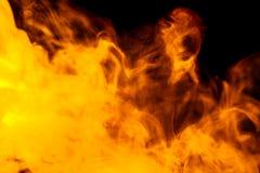 Абстрактный оранжевый кальян дыма на черной предпосылке Стоковые Фотографии RF