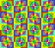 Абстрактный орнамент с цветком или снежинкой Стоковое Изображение