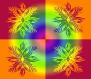 Абстрактный орнамент с цветком или снежинкой Стоковые Изображения RF