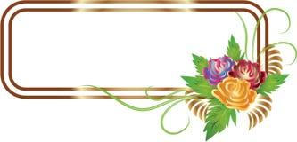 абстрактный орнамент цветков Стоковое фото RF