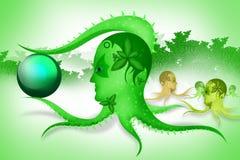 Абстрактный осьминог Стоковое Изображение RF
